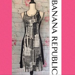 Banana Republic Black & White Skyscraper Dress🎉XS